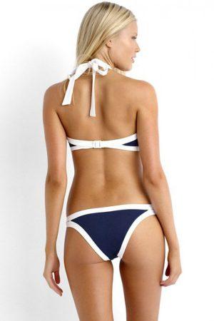 Angelsin Lacivert Özel Tasarım Tankini Bikini