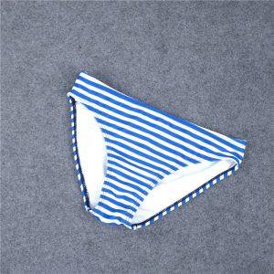 Angelsin Mavi Cizgili Şık Bikini Alt