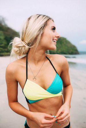 Angelsin Renkli Şık Tasarım Bikini Takım