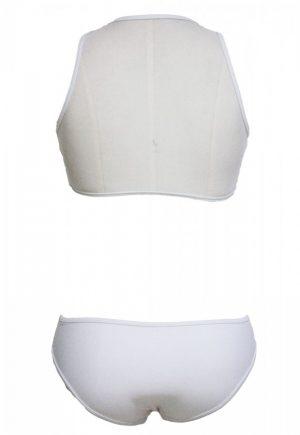 Beyaz Özel Tasarım Tankini Bikini