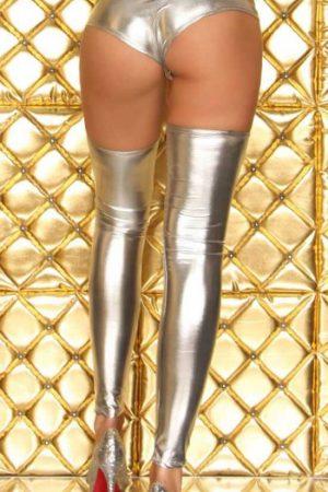 Merry See Parlak Gümüş Fantazi Çorap