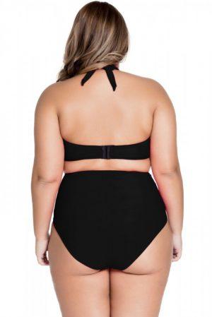 Siyah Yüksek Bel Büyük Beden Bikini