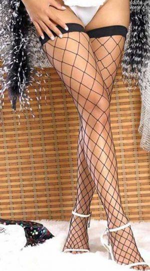 VIXSON Dantelli Fileli Seksi Çorap