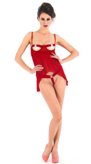 VIXSON Sexy Fantazi Kırmızı Babydoll