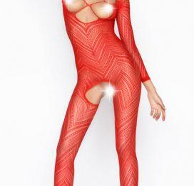 Vixson Desenli Kırmızı Vücut Çorabı