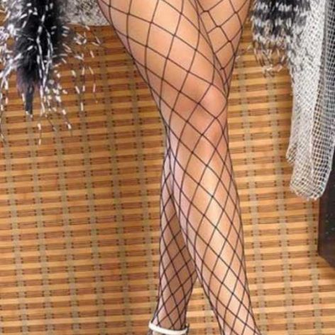 Merry See Siyah File Jartiye Çorabı
