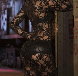 Merry See Komple Dantel Siyah Gecelik Şort Sütyen Takım