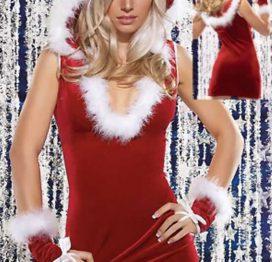 Merry See Kadife Fantazi Yılbaşı Kostümü