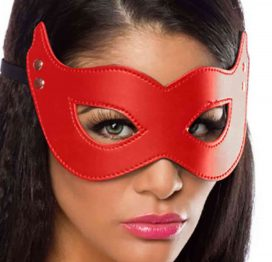 Merry See Kırmızı Deri Maske