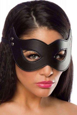 Merry See Siyah Deri Maske