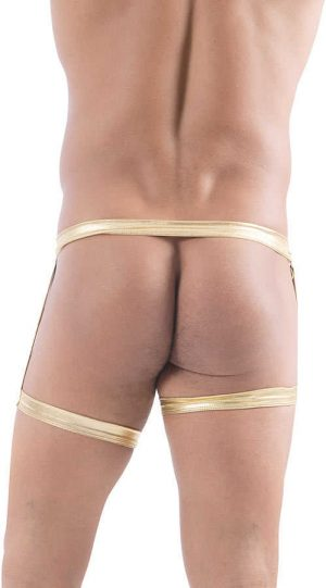 Vixson Men Altın Renkli Parlak Fantazi İç Giyim