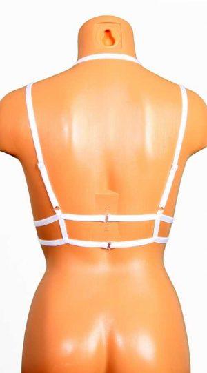 Vixson Uzun Şeritli Beyaz Dekolte Bralet Aksesuarı