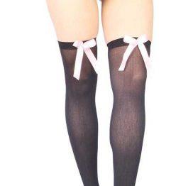 Vixson Pembe Kurdeleli Seksi Diz Üstü Çorap